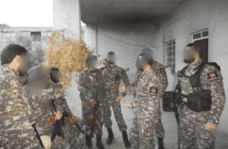 Milicianos de la Guardia Nacionalista Árabe en Damasco. Fuente: Brown-moses.blogspot.com