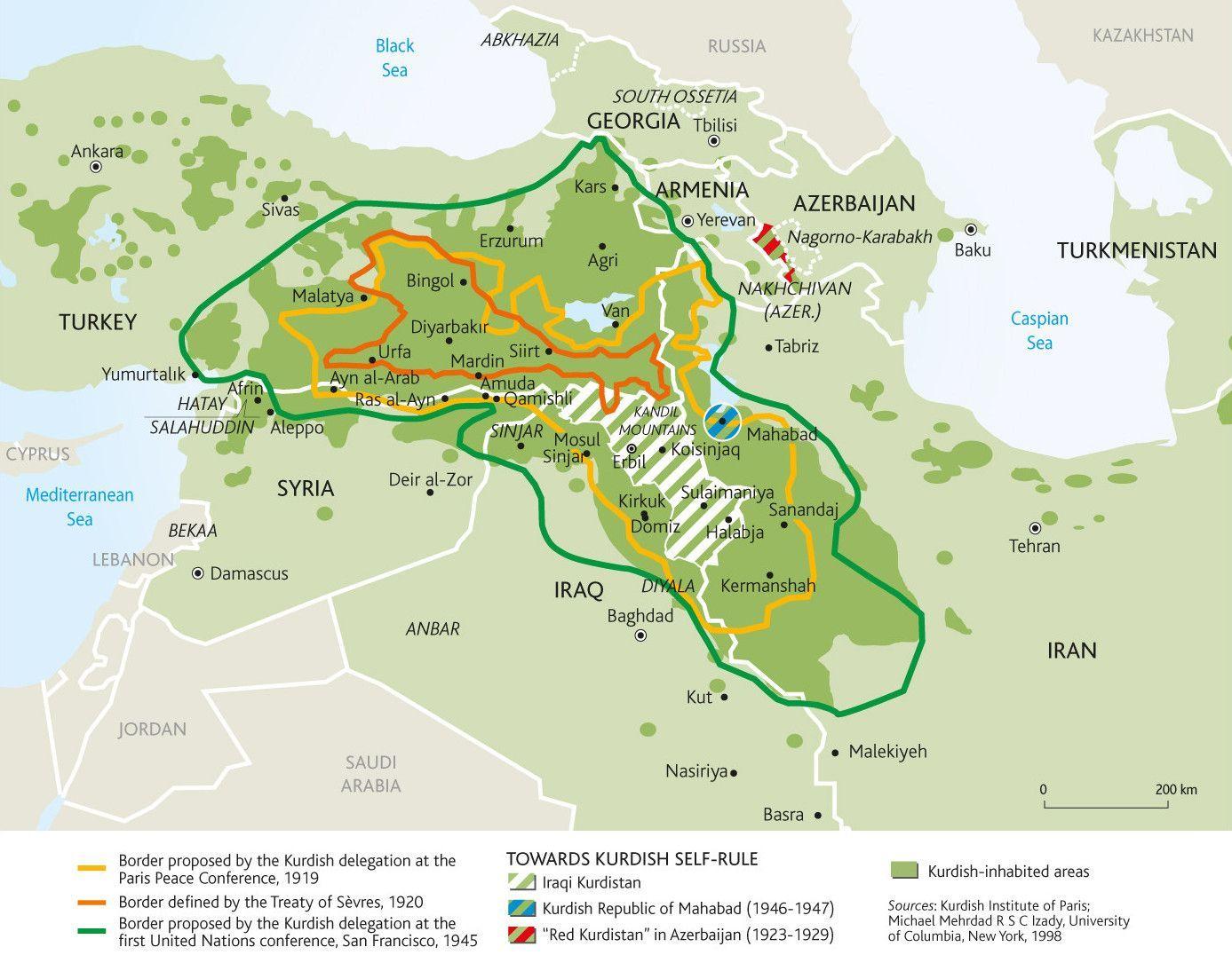 Los caprichos fronterizos de Oriente Prximo