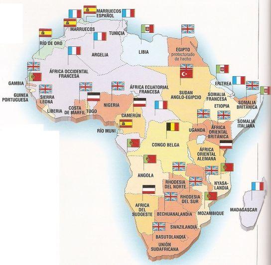 África - Historia - Poder - Repartición de África en la Conferencia de Berlín