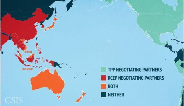 Asia - América - China - Australia - Economía - Comercio - Acuerdos TPP y RCEP