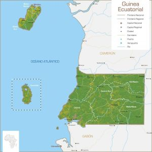 Guinea ecuatorial mapa