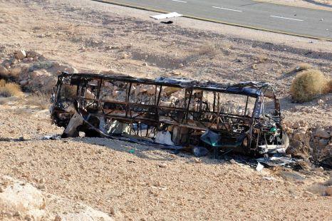 Bus israelí atacado por yihadistas egipcios provenientes del Sinaí en 2011