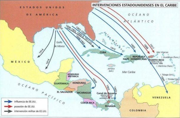 Las intervenciones de Estados Unidos en el Caribe fueron habituales durante el final del siglo XIX y principios del XX. Fuente: IEEE