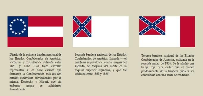 La guerra civil obligó también a modificar las banderas nacionales, y esta simbología ha permeado en algunos aspectos hasta hoy