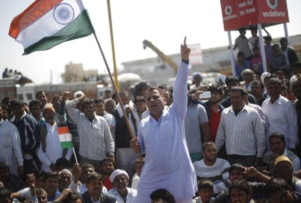 Protestas recientes de la casta Jat en cuanto a privilegios ofrecidos a otras castas. Fuente: Youth Ki Awaaz