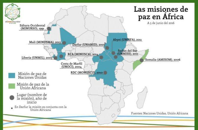 La ONU y la UA desarrollan diversas misiones de paz en África. Etiopía participa en la mayoría de ellas.