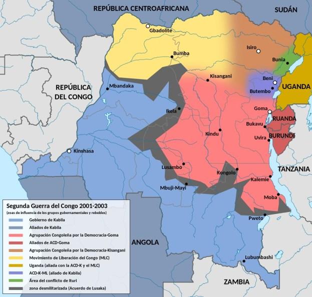 La Segunda Guerra del Congo volvió a desangrar el país en el cambio de siglo