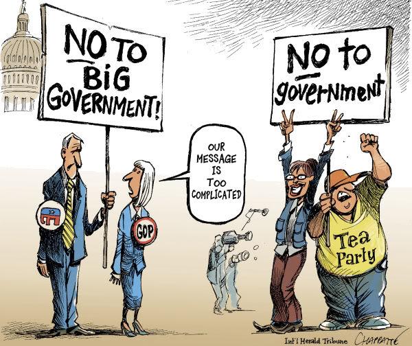De liberales a libertarios a veces hay una sola palabra por medio. Fuente: Daikykos