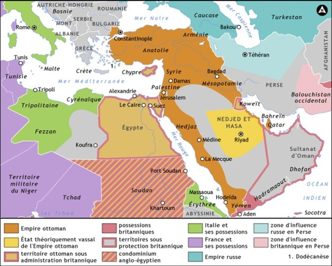 El Imperio Otomano supuso una barrera para crear Oriente tras de sí. Al tiempo que este imperio fue troceado, la idea sobre aquel territorio fue modificándose.