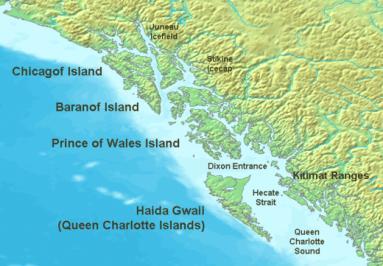 La isla Baranof, donde está situada Sitka, fue el lugar donde se debería crear la colonia judía. Fuente: Wikimedia
