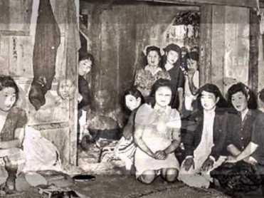 En la imagen se muestra el aspecto de algunas de las habitaciones de las esclavas sexuales. Fuente: Washington State University