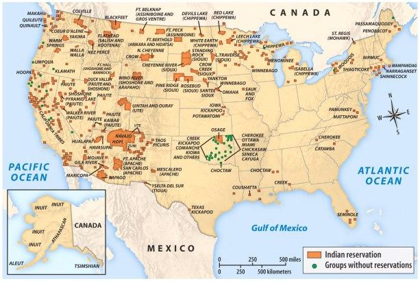 Reservas indias en la actualidad. Fuente: Glyn County
