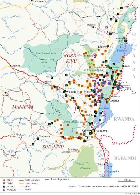Grupos armados que operan en la RDC en el 2008. Fuente: Crossed Crocodiles
