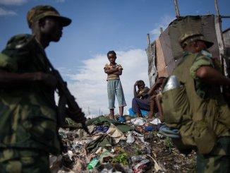 Soldados congoleños en la ciudad de Goma, capital de la provincia de Kivu del Norte, en la frontera con Ruanda. Foto: Phil Moore (NYT)