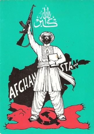 Propaganda antisoviética de los muyahidines. Fuente: History in Posters