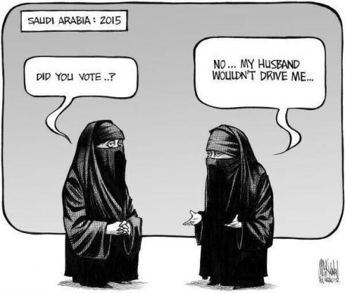 En Arabia Saudí, las mujeres pueden votar, pero no conducir (2). Fuente: Saudiwoman's Weblog
