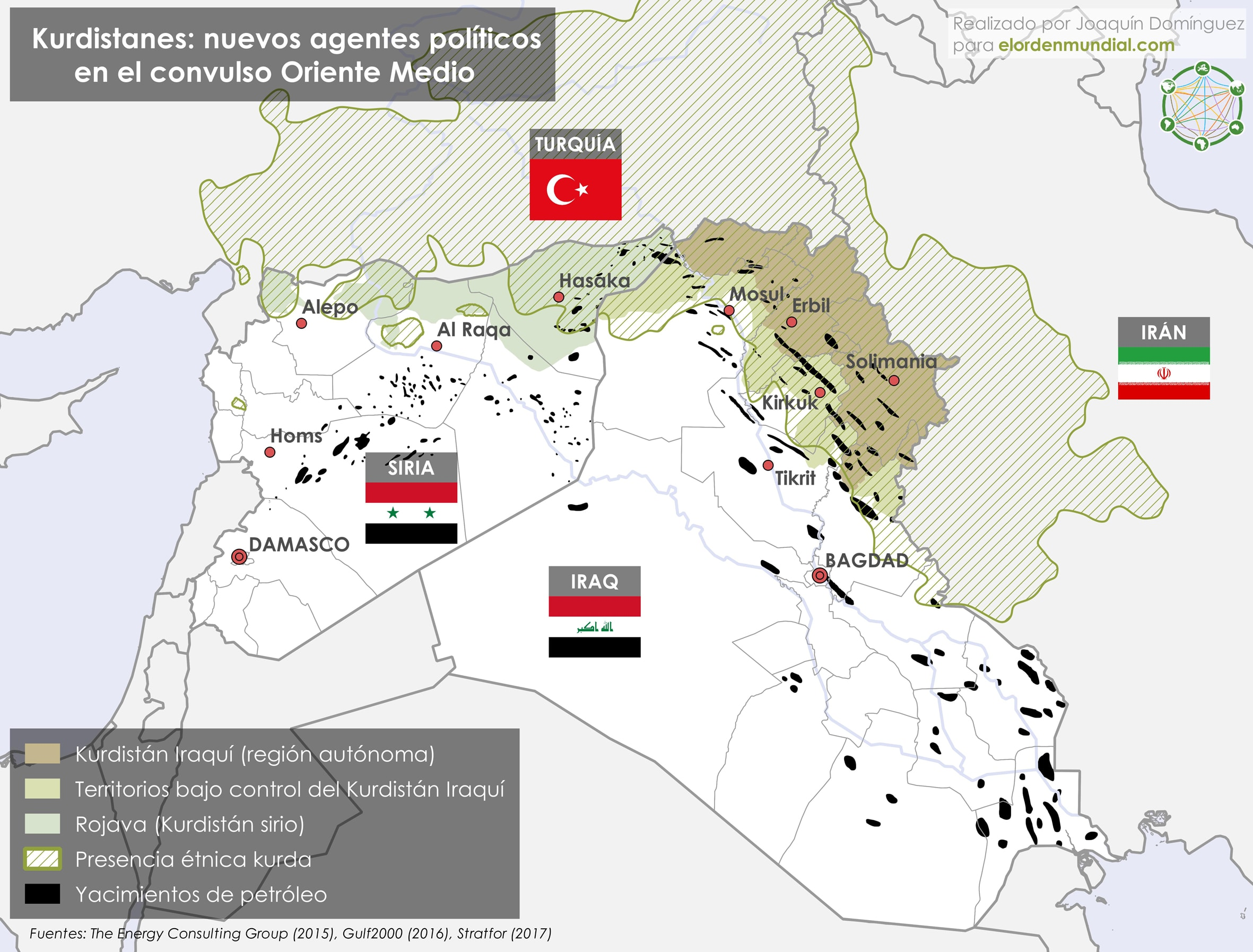Kurdistán Siria Iraq Petroleo Oriente Próximo 2017