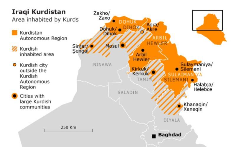 Kurdistan Iraq Regiones
