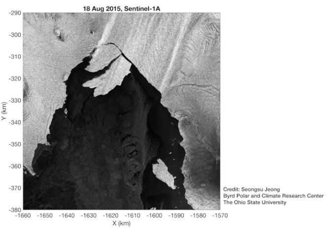 Antartida desprendimiento glaciar