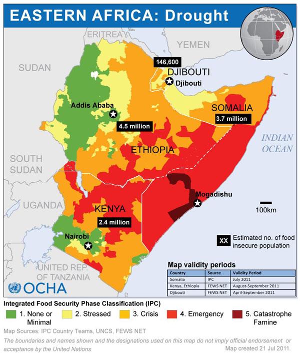 refugiados cuerno africa seguridad alimentaria VIA UN