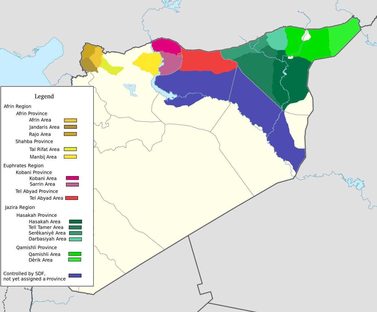 Oriente Proximo cantones kurdos siria