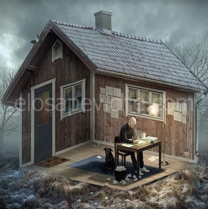 Cosa hai visto prima? L'uomo dentro o fuori dalla casa?
