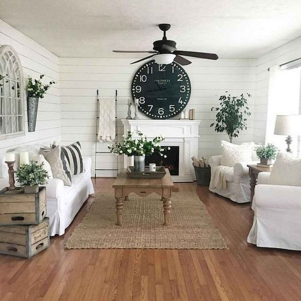 15 Modern Farmhouse Living Room Design Ideas 18