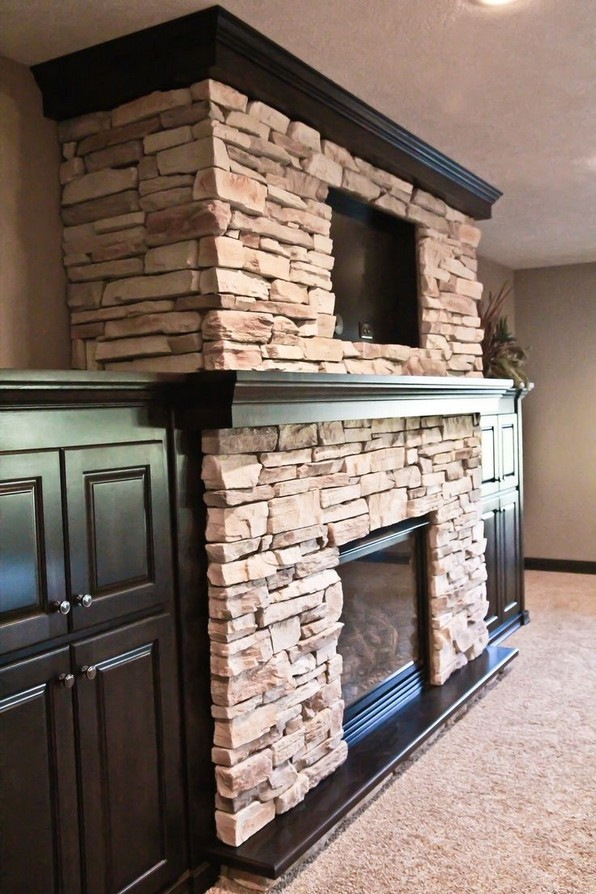 15 Awesome Built In Cabinets Around Fireplace Design Ideas 11