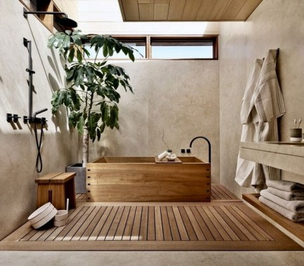 15 Japanese Bathtub Master Bathroom Interior Design 29