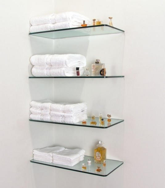 16 Floating Curved Glass Shelves Perfect For Storing Your Belongings 02