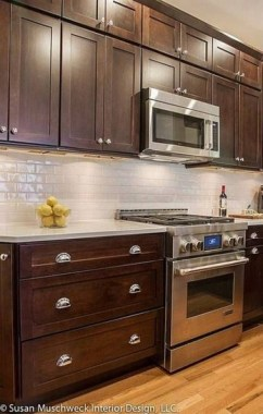 19 Cool Kitchen Color Scheme Ideas For Dark Cabinets 22