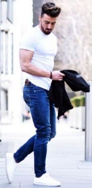 16 Chic Spring And Summer Men Outfits Ideas With Jeans To Try 18