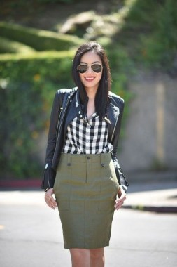 17 Amazing Black White Plaid Shirt Outfits Ideas For Spring 11
