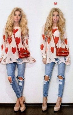 19 Casual Valentines Day Outfits Ideas For Teen Girls 24