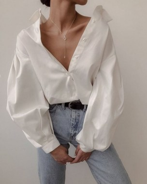 19 Gorgeous White Shirt Ideas For Summer 2019 01