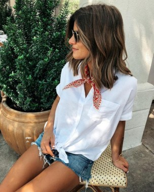 19 Gorgeous White Shirt Ideas For Summer 2019 11