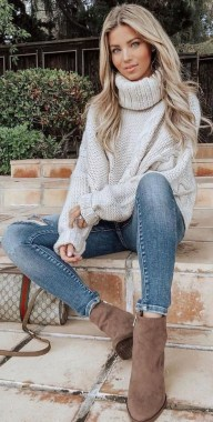 20 Newest Winter Outfit Ideas With Sweater 14