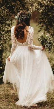 21 Charming Boho Chic Wedding Dresses Ideas 04