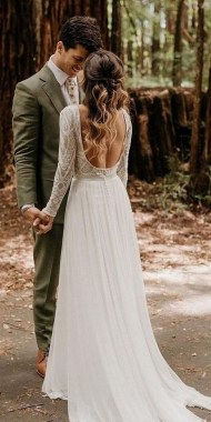 21 Charming Boho Chic Wedding Dresses Ideas 18