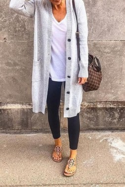 21 Cozy Summer Women Fashion Ideas With Cardigan You Need Try 11