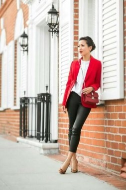 17 Cute Red Blazers Outfit Ideas For Girls 02
