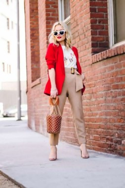 17 Cute Red Blazers Outfit Ideas For Girls 09