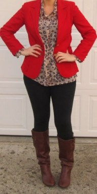 17 Cute Red Blazers Outfit Ideas For Girls 10