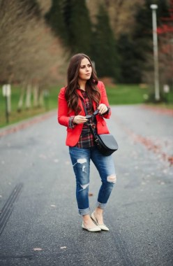 17 Cute Red Blazers Outfit Ideas For Girls 17