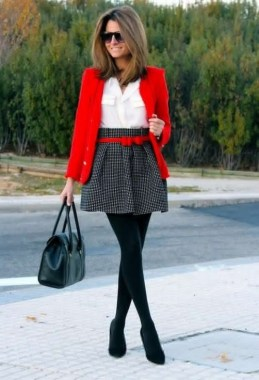17 Cute Red Blazers Outfit Ideas For Girls 20