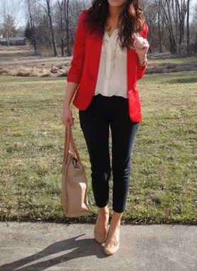 17 Cute Red Blazers Outfit Ideas For Girls 23