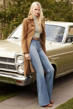 17 Incredible Flared Jeans Fall Winter Outfits Ideas 21