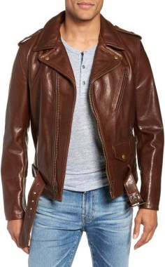 19 Adorable Ways To Wear A Leather Jacket For Men 03