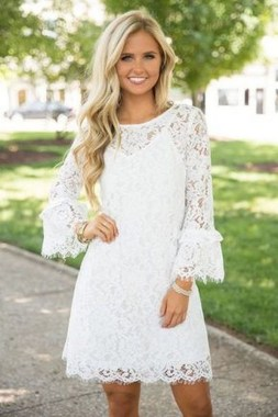 19 Amazing White Lace Outfits Ideas 19