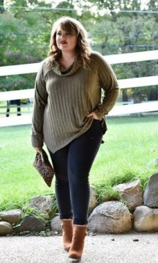 19 Cute Plus Size Winter Fashion Ideas 10